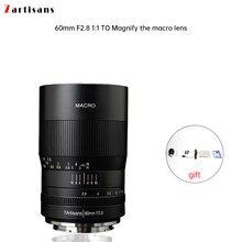 7 artesãos 60mm f2.8 1:1 ampliação lente macro é adequado para canon eosm eosr e fuji m43 nikon z montagem