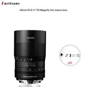 Макро-объектив 7 макросъемки 60 мм f2.8 1:1, подходит для Canon EOSM EOSR E Fuji M43 nikon z Mount