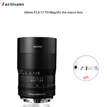 7artisans 60mm f2.8 1:1 magnification macro lens is suitable for the Canon EOSM EOSR E Fuji M43 nikon z Mount mcoplus ec snf e s auto focus electronic adapter ring for nikon f mount lens transfer to sony e mount camera