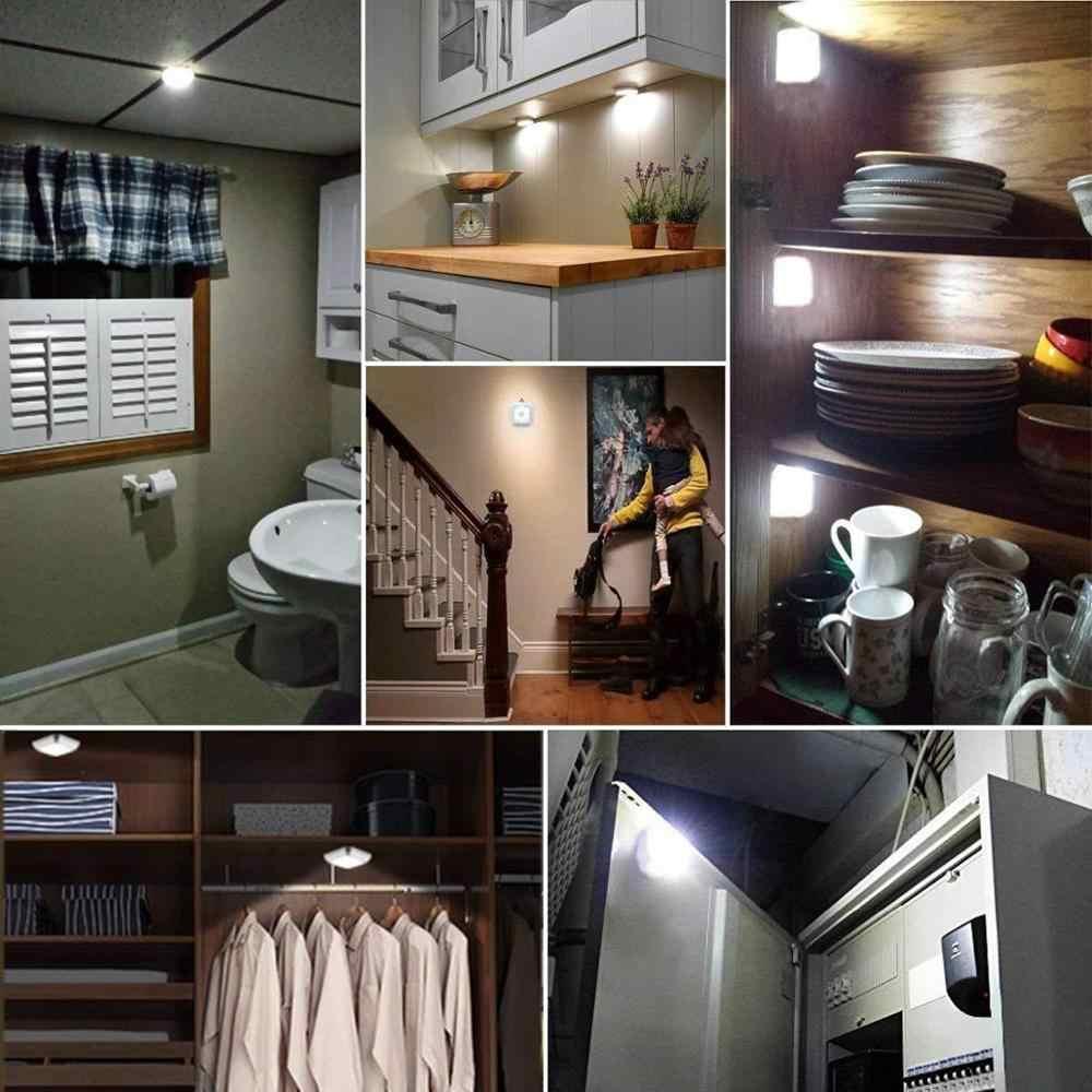 Светодиодный светильник s PIR с датчиком движения, светодиодный светильник с батареей, ночной Светильник для гардероба, лестничный светильник, прихожая, Автоматическое включение/выключение, ночная лампа для дома