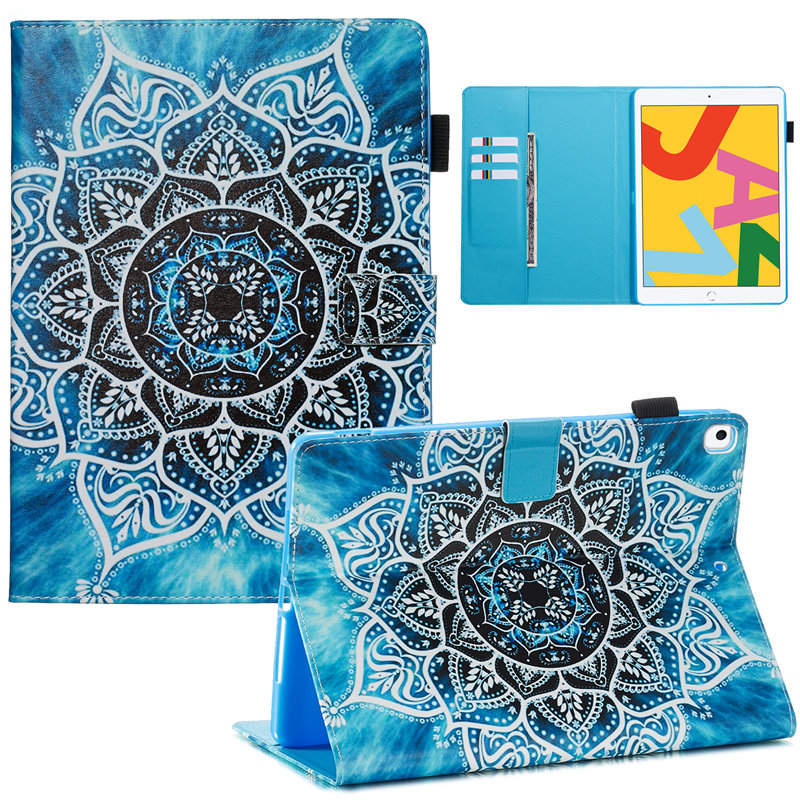 05 BLACK Cute Flip Stand Case For iPad 10 2 Case 2019 Smart Tablet Cover For iPad 10