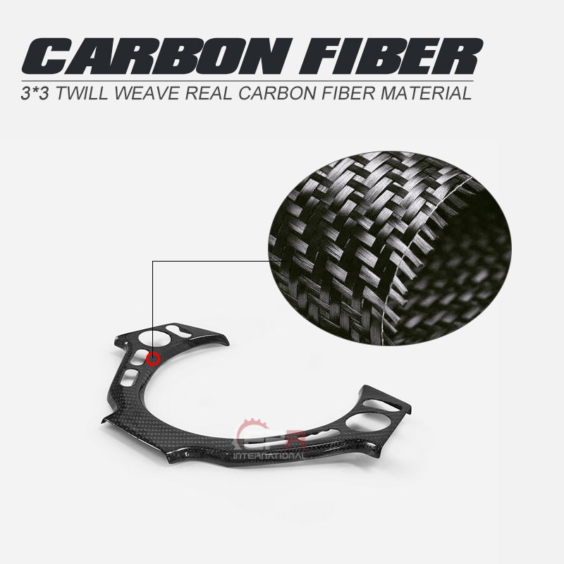 Interruttore Sul Pannello di Auto-Styling Volante in Fibra di Carbonio Finitura Lucida Interno Trim Copertura in Fibra di Drift Kit per Nissan R35 gtr Lhd Rhd