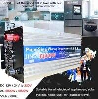 Inverter 12V 24V 220V 5000W 6000W Voltage transformer Pure Sine Wave Power Inverter DC12V to AC 220V Car Converter LED Display