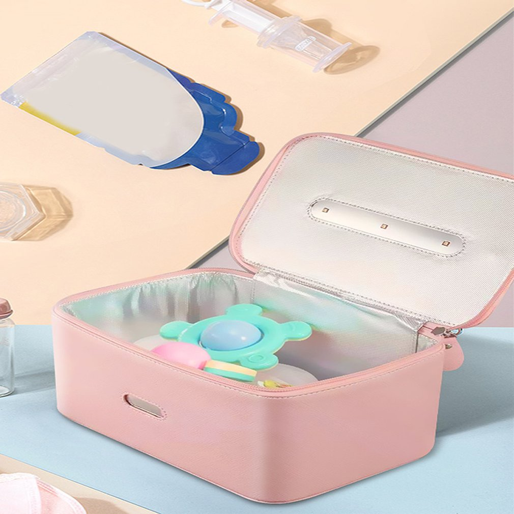 Multifunctional Storage Bag UVC Sterilization Box Household Travel Disinfection Bag Portable
