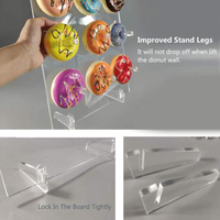 Acrylic Donut Display Stand Suitable Birthdays Parties Cake Clear Rack Practical