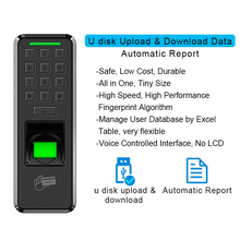Eseye Fingerprint Door Lock  Access Control USB Access Control Keypad Reader Home Employee Device Entry Exit Record Door Lock