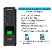 Eseye Vingerafdruk Deurslot Toegangscontrole USB Toegangscontrole Toetsenbord Reader Thuis Werknemer Apparaat Entry Exit Record Deurslot