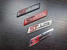 1x metal chrome mate prata preto vermelho stline st linha emblema do carro emblema decalque do carro adesivo 3d emblema para ford focus st mondeo