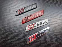 1X Metall Chrom Matt Silber Schwarz Rot STline ST linie Auto Emblem Abzeichen Auto Aufkleber 3D Aufkleber Emblem für Ford focus ST Mondeo