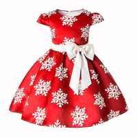 Noël filles robe dessin animé Cosplay flocon de neige robes de princesse pour les filles noël Anniversaire robe de Costume robes de soirée