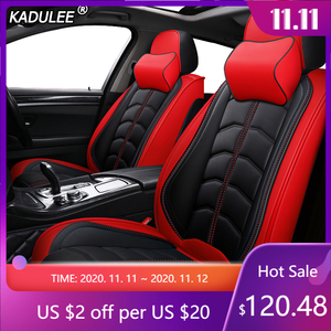 Image 1 - Kadulee Luxe Lederen Auto Seat Cover Voor Honda Accord 7 8 9 10 2002 2018 Civic 5d Cr  V Crv Fit Jazz Stad UR V Auto Accessoires