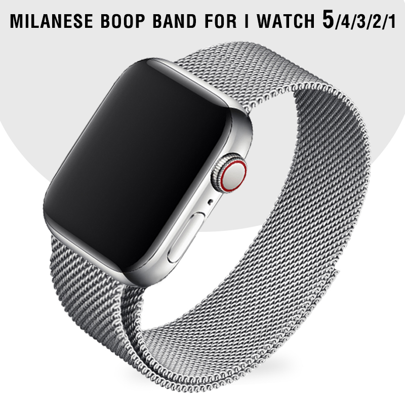 Milanese Loop Watch Strap For Apple Watch Series 5 40mm I Watch Bands 44 Mm Silver Bracelet Apple Watch 3 Band 38mm 42mm