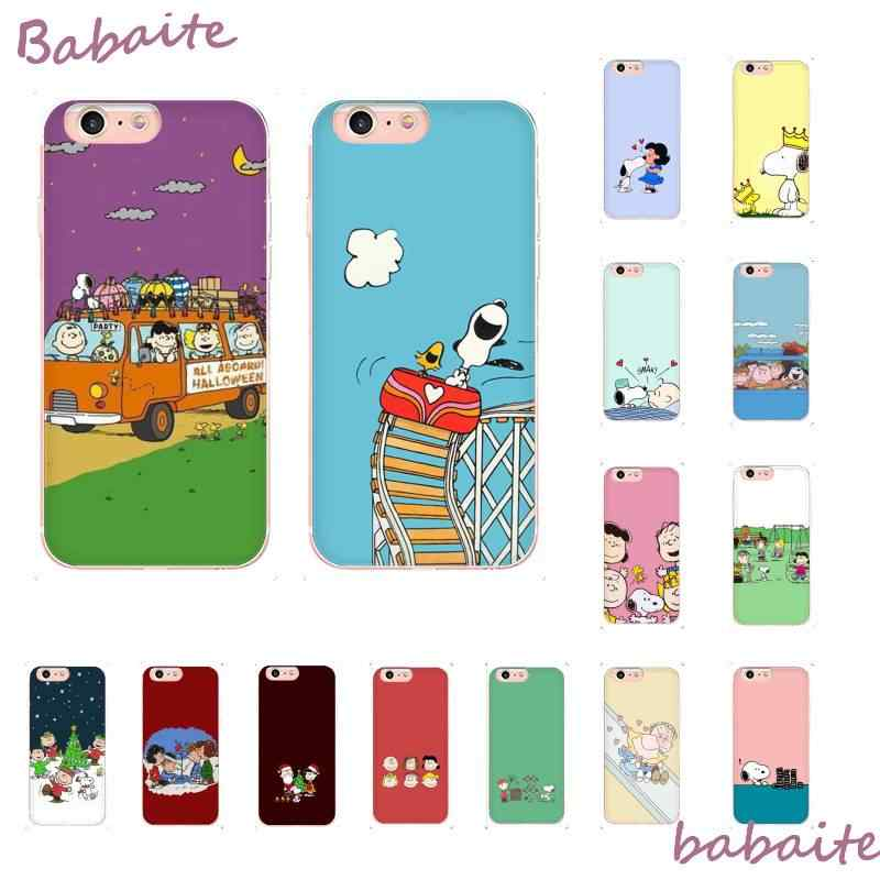 Babaite Cute Dog Peanuts Cartoon Charlie Brown Silicone Phone Case For iPhone 8 7 6 6S Plus X XS MAX 5 5S SE XR 11 11pro promax