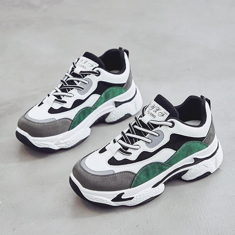 New Lace-up Sneakers Women Vulcanize Shoes Chunky Sneakers Slip-on Women Shoes Platform Sneakers Walking Shoes Women zapatos