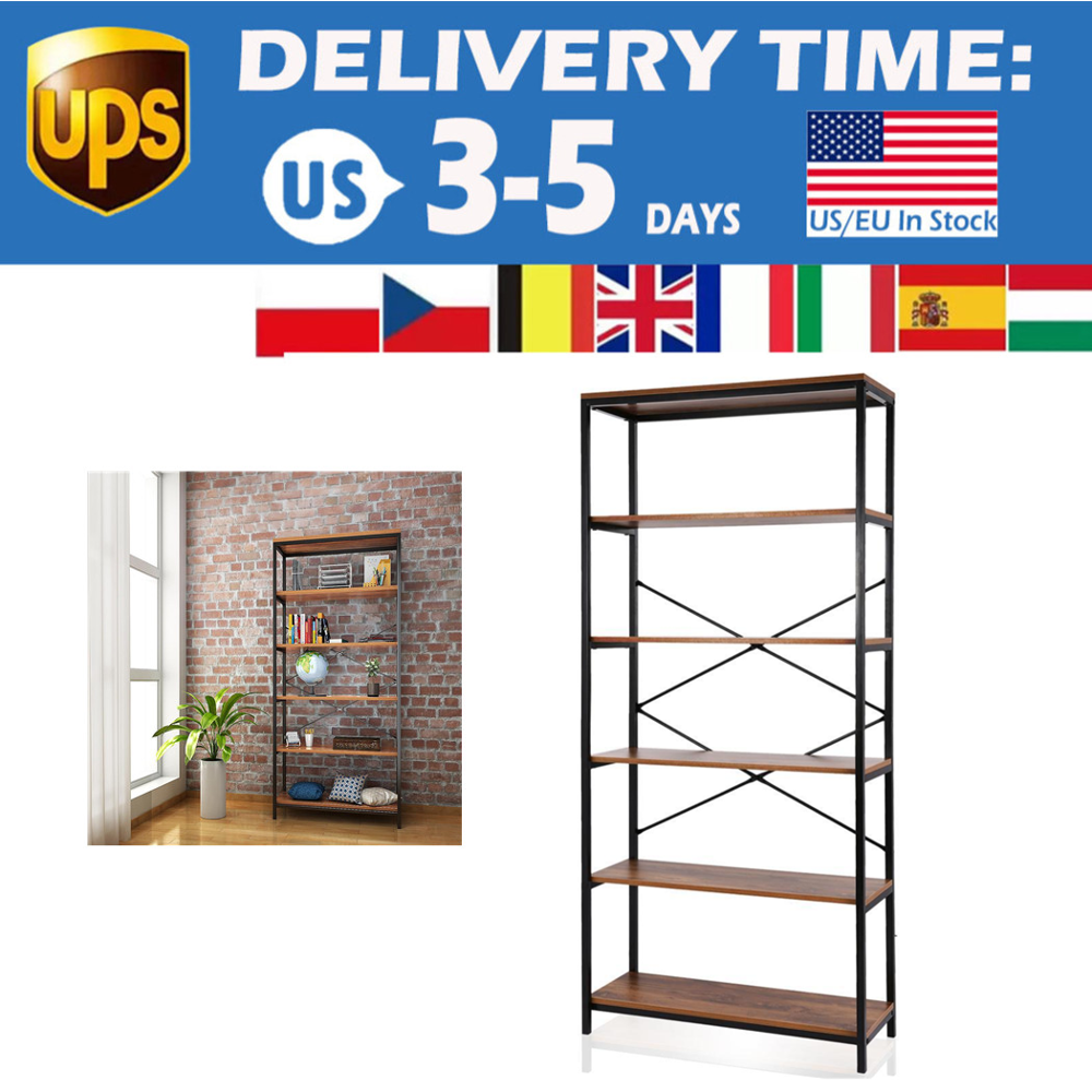 5-tier Wooden Bookcase Bookshelf Storage Organizer Display Home Decor Rack Furniture Boekenkast 1