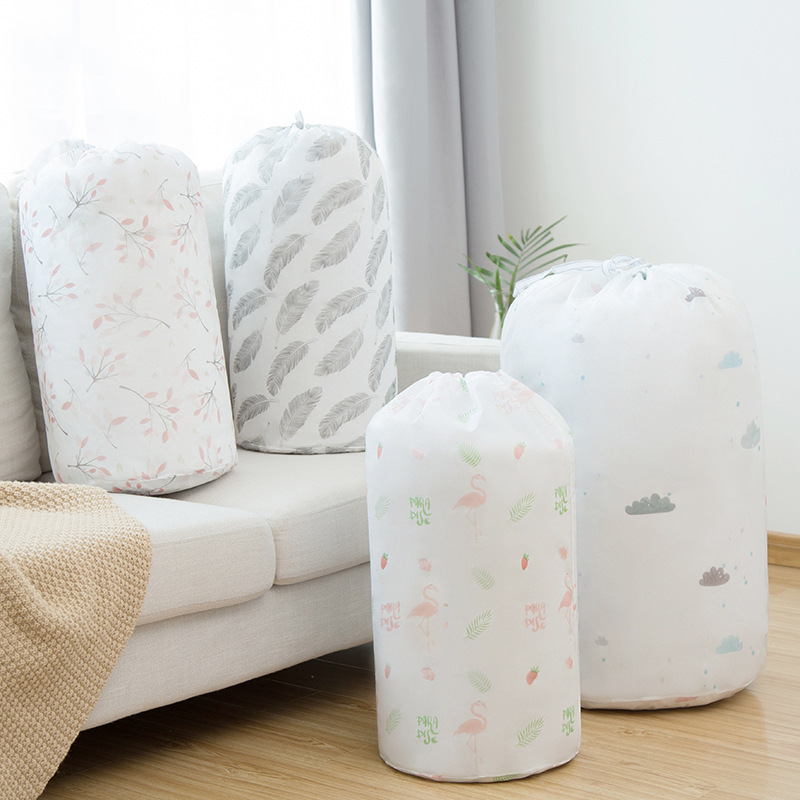 Flamingo Quilt Storage Bag Home Clothes Quilt Pillow Blanket Storage Bag Travel Luggage Organizer Dampproof Sorting Bag