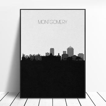 Montgomery Skyline Art Canvas Poster Print Home Decor Painting No Frame image