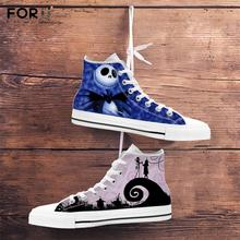 FORUDESIGNS 2020 Women High Top Canvas Shoes The Nightmare B