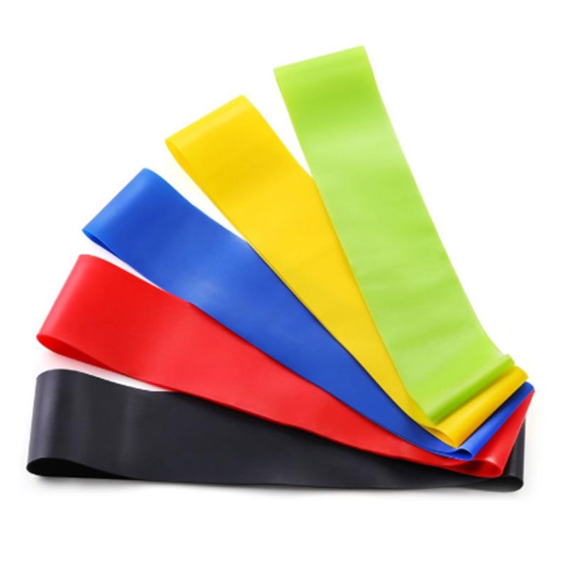Yoga direnç bantları elastik Pilates ağır spor eğitim bantları döngü seti Crossfit spor salonu Fitness egzersiz için egzersizleri ekipmanları
