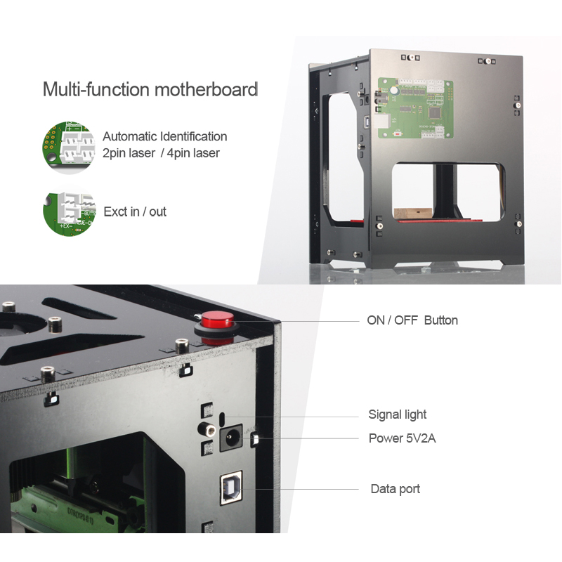 NEJE DK-8-KZ 1000/3000mW Professional DIY Desktop Mini CNC Laser Engraver Cutter Engraving Wood Cutting Machine Router