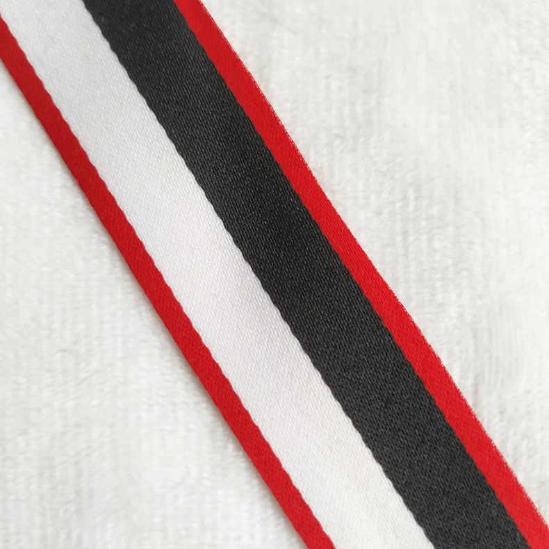 20 メートル 10-25 ミリメートル黒、白リボンツイーターウェビング DIY リボン蝶ネクタイ襟リボン印刷ギフト包装家庭用ミシンアクセサリー