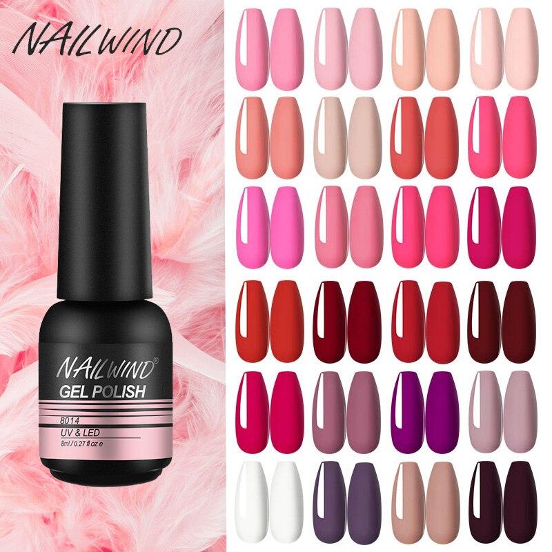 NAILWIND Gel Nail Polish Semi Permanent Primer Nail Art Hybrid Varnishes 8ml Gel polish Need Cured Base Top Coat Nails
