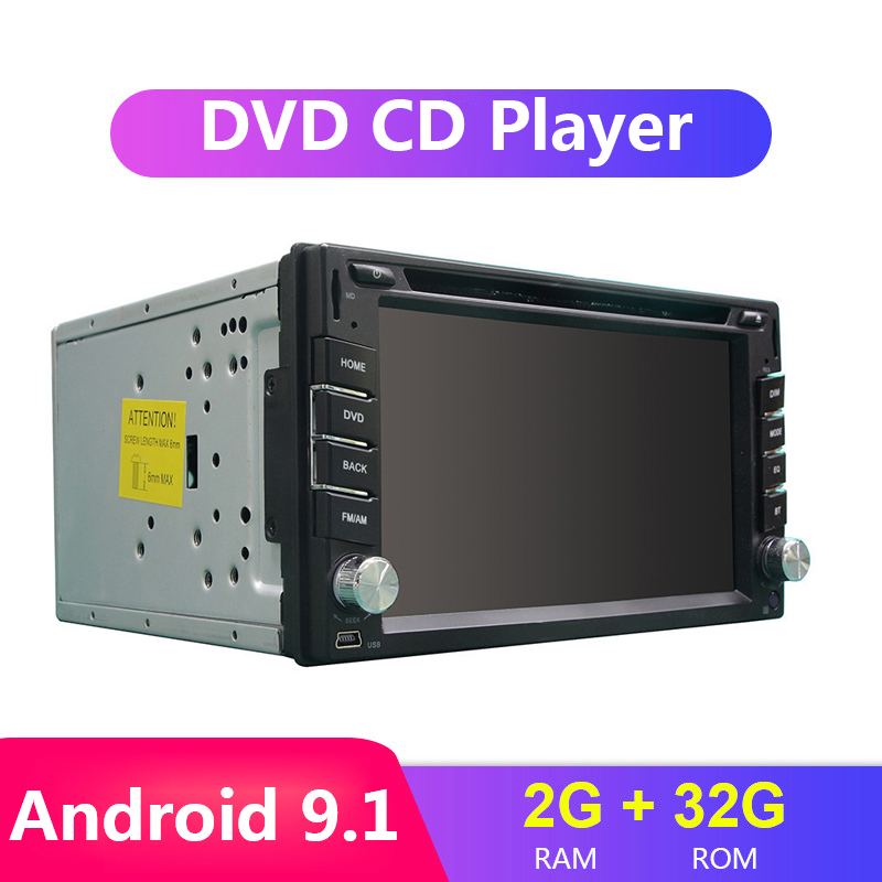 2 din Android 9.1 Car DVD Radio Autoradio Multimidia player for Universal Auto Radio Octa Core <font><b>6.2</b></font> <font><b>inch</b></font> <font><b>2din</b></font> <font><b>GPS</b></font> Bluetooth WIFI image