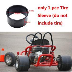 Drift Trike Big Wheel 11*7.10-5 Inch Plastic Wheel Replacement PVC Tire Rim Scooter Sleeve Street Gas Powered Kart