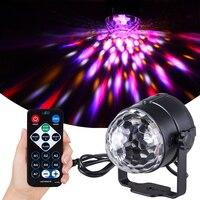 Proiettore Laser a luce stroboscopica a sfera da discoteca a Led RGB attivato dal suono ruota KTV Bar Club DJ luci per feste decorazioni natalizie