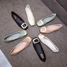 Luxury 2020 Women Flats Shoes Fashion Loafers Ballet Flats Square Toe Slip-On Solid Soft Bottom Ladies Shoes Brand High Quality ladies high quality china blue chinese women slip on luxury brand shoes bow foldable pointed toe flats european fashion drop