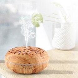 350ML dyfuzor zapachowy aromaterapia ultradźwiękowy nawilżacz powietrza z 7 zmiana koloru światła led do domu w Nawilżacze powietrza od AGD na