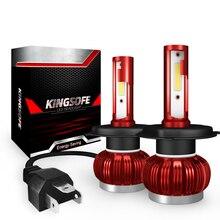 Układ COB H1 H4 H7 LED konwersja reflektorów zestawy H11 9005 9006 HB3 HB4 żarówki samochodowe lampa samochodowa 6000K 12V