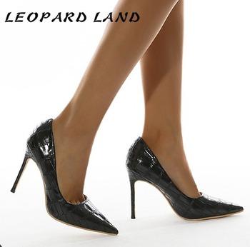 LEOPARD LAND 2021 wzór 35 42 szpilki niskie obcasy wysokie obcasy pojedyncze buty Point Toe Sexy 12cm czółenka damskie JXQ tanie i dobre opinie podstawowe CN (pochodzenie) Wysoka (5 cm-8 cm) Na co dzień Z niewielkim szpicem