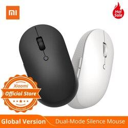 Versi Global Xiaomi Serta Nirkabel Dual-Mode Mouse Diam Putih & Hitam Bluetooth / USB Receiver Koneksi Tombol Samping dengan baterai