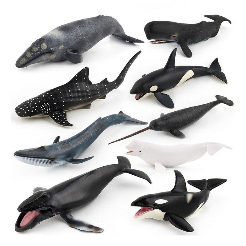 Simulation solid resin whale model ocean sealife animals Model bule whale Shark sperm whale turtle Unicorn
