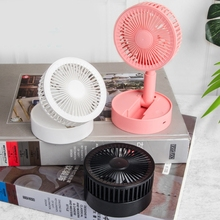 Retractable and Foldable Portable Mini Fan USB Charging Smart Personal Cooling Tool for Summer Home and Office Cooling