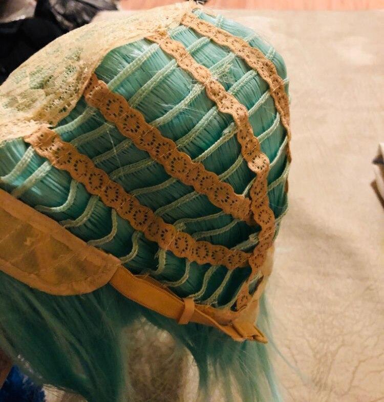 High Quality Sword Art Online Sword Sinon Wig Asada Shino Blue 40cm Heat Resistant Synthetic Hair Cosplay Wigs + Wig Cap 4