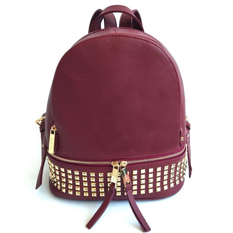 Women PU Leather Waterproof Mini Travel Punk Backpack Girl School Hand Bag Shoulders High Quality Ladies Designer Michael Bolsas
