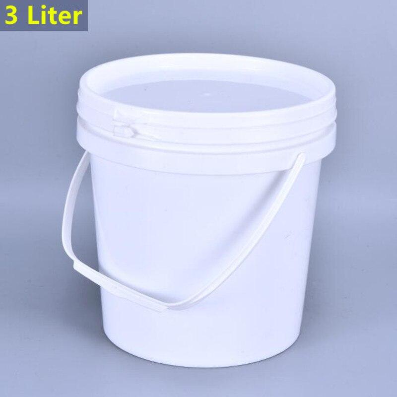 Cubo de plástico de 3 litros para pesca, lavado de coche, cultivo de plantas, contenedor de almacenamiento doméstico, Cubo de grado alimenticio, 1 Uds.