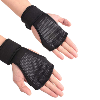 Weight Lifting Training Gloves for Women Men Fitness Sports Body Building Gymnastics Grips Gym Hand Palm Wrist Protector Gloves 3