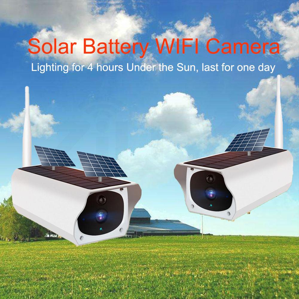 Solar Panel WIFI Camera 1080P HD Wire-Free Battery IP Camera Outdoor IP67 WaterProof 2MP Security CCTV Video PIR Two Way Audio