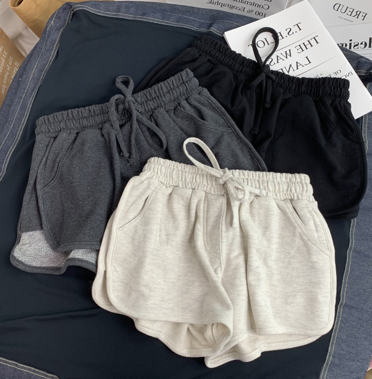 NEW Women  Short Pant Casual Lady All-match Loose Solid Soft Cotton Leisure Female Workout Waistband Skinny Stretch Shorts