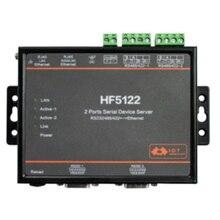 Hot-HF5122 RJ45 RS232/485/422 Serial Port to Ethernet RTOS Serial Port 2-Port Transmission Converter Serial Server