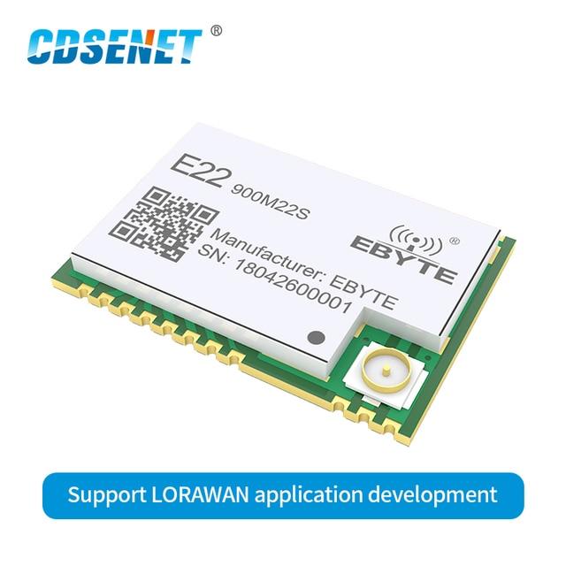 SX1262 لورا اللاسلكية RF وحدة 22dBm 915MHz مصلحة الارصاد الجوية TCXO جهاز ريسيفر استقبال وإرسال ل IoT مراقبة الكهرباء الأمن إنذار E22 900M22S