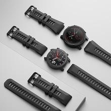 Original reloj Correa 20mm 22mm (ancho) sílice pulsera Xiaomi Huami Amazfit GTR ritmo Stratos 3 GTS Bip Lite reloj inteligente