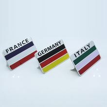 Aluminium Labeling Emblem Car Styling Germany England Italy France USA Flag Badge Sticker for BMW M Benz AMG VW R Audi Gecko TRD