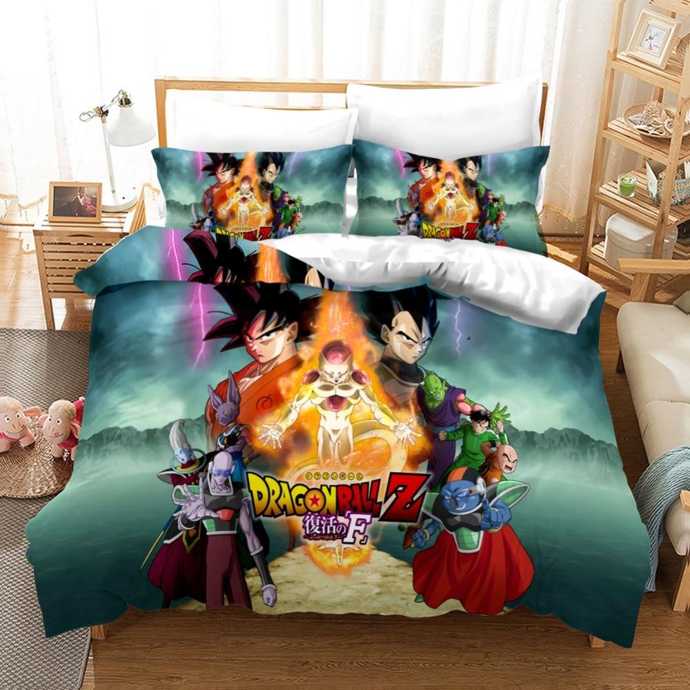 3D Design Digital Printing Bedding Set Duvet Cover Pillowcase  Bedclothes  Dropshipping  Dragon Ball Z Boy Gife Game #03