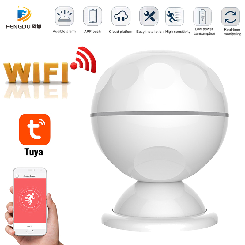 2020 Newest Smart WiFi PIR Motion Sensor Human Body Sensor Detector Home Alarm System Smart PIR Motion Sensor Tuya Smart Life