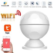 Sensor de movimiento PIR inteligente WiFi, Sensor de cuerpo humano, sistema de alarma de casa, Sensor PIR de movimiento inteligente, Tuya Smart Life, novedad de 2020