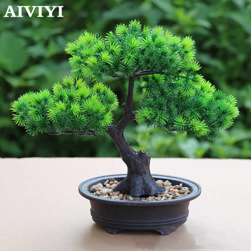 Chinese Zen Simulation Fake Pine Tree Welcoming Pine Potted Plants Bonsai Decorations Garden Equipment Home Decor Artificial Artificial Plants Aliexpress